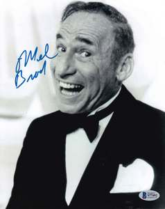 "Mel Brooks Signed 10x8"" Photograph & COA (Young Frankenstein, Spaceballs)"