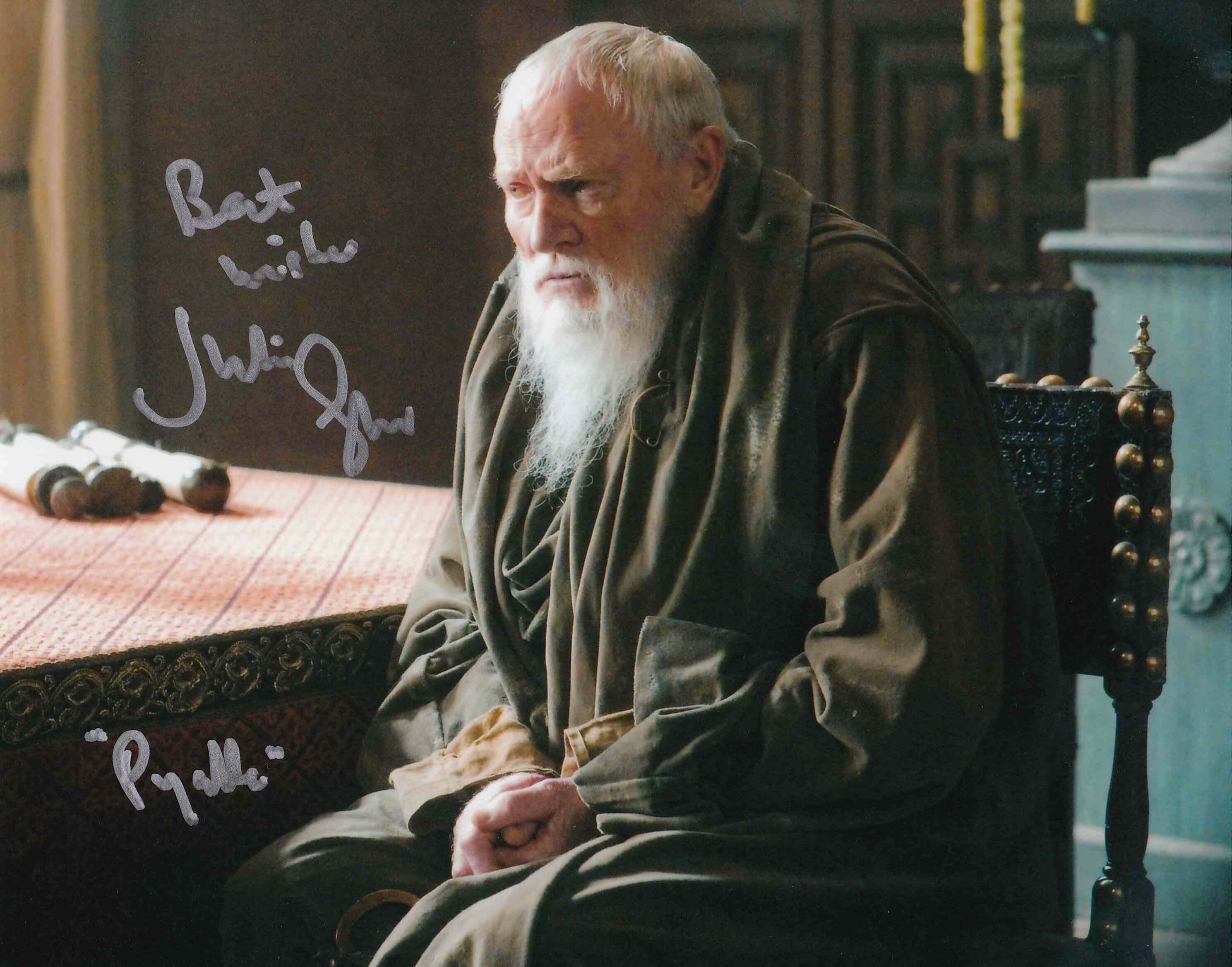"Julian Glover Signed 10x8"" Photograph & COA"
