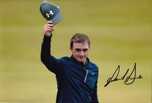 "Paul Dunne Signed 12x8"" Photograph & COA"